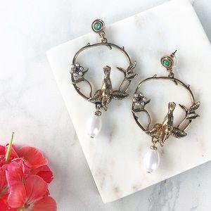 Vintage Bird Earrings